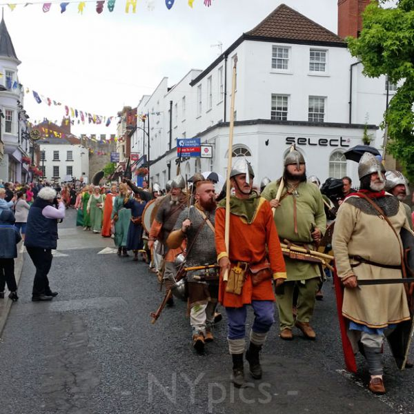 Ancient warriors march through Chepstow