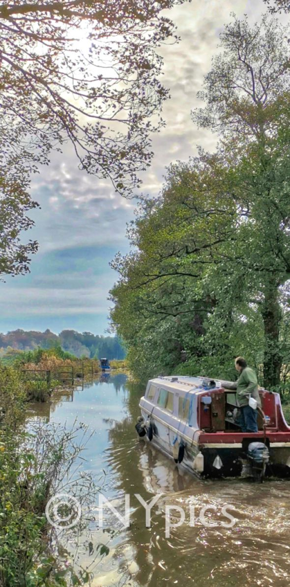 Canal Barge on the Monmouthshire and Brecon Canal