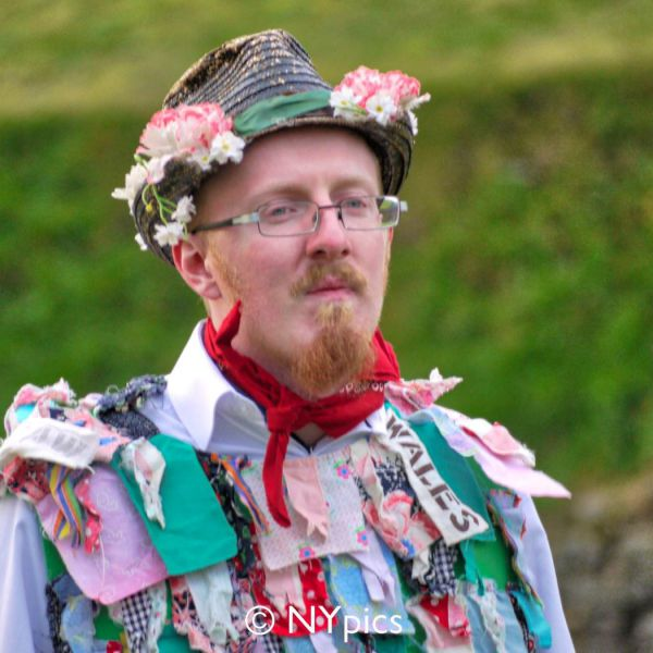 A Member Of Sweyn's Ey Morris Dancers At Caerleon Roman Amphitheatre