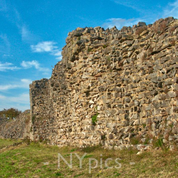The Roman Walls Caerwent Still Up To 5m in height