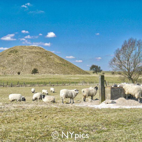 Silbury Hill, near Avebury, Wiltshire