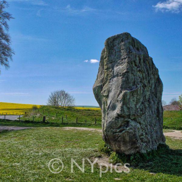 Stone 98 (nearer) and Stone 1 - The Devil's Chair - Avebury