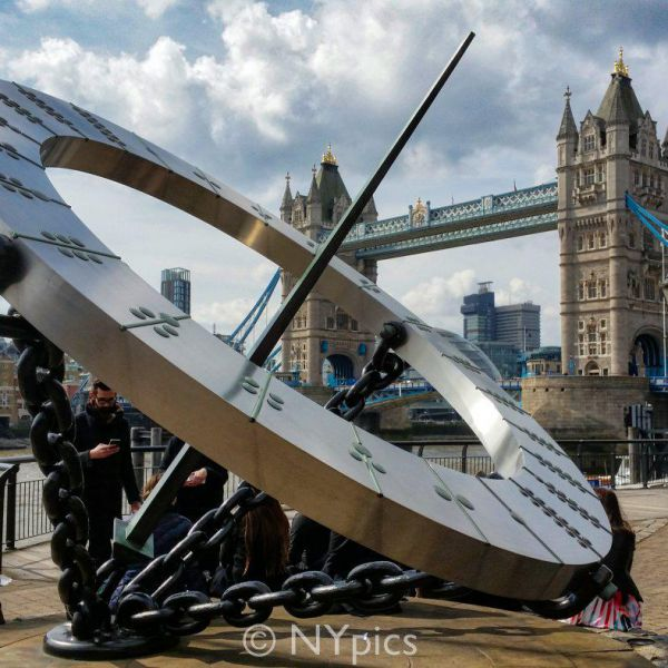 Sun Dial Sculpture Near St Katherine Dock, London