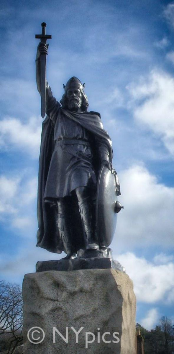 Statue Of King Alfred The Great At Winchester