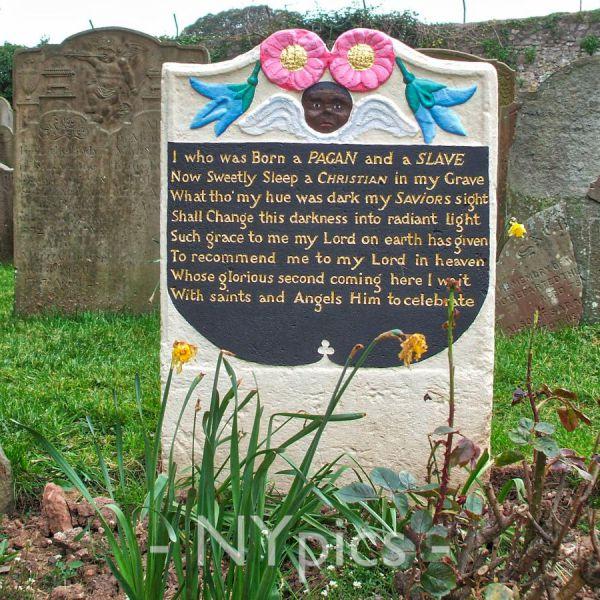Footstone of Scipio Africanus, A Slave, Henbury, Bristol