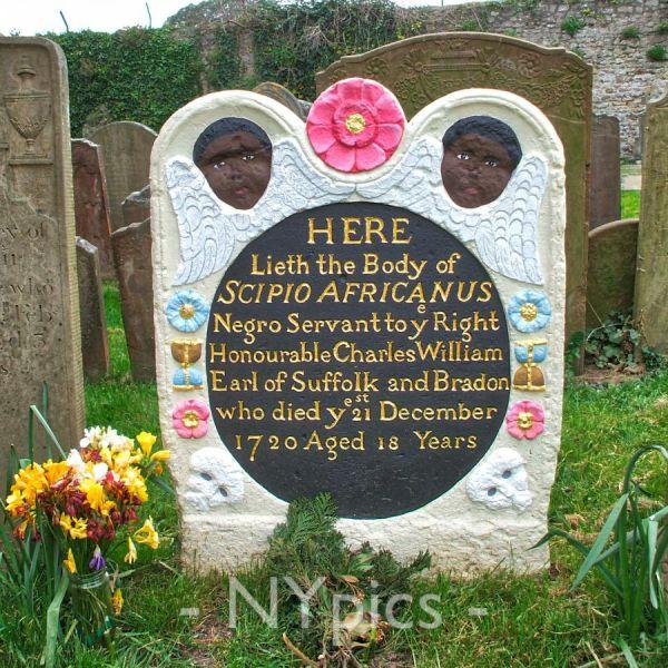 Headstone of Scipio Africanus, A Slave, Henbury, Bristol