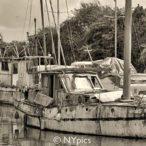 Boats In Lydney Harbour, Gloucestershire