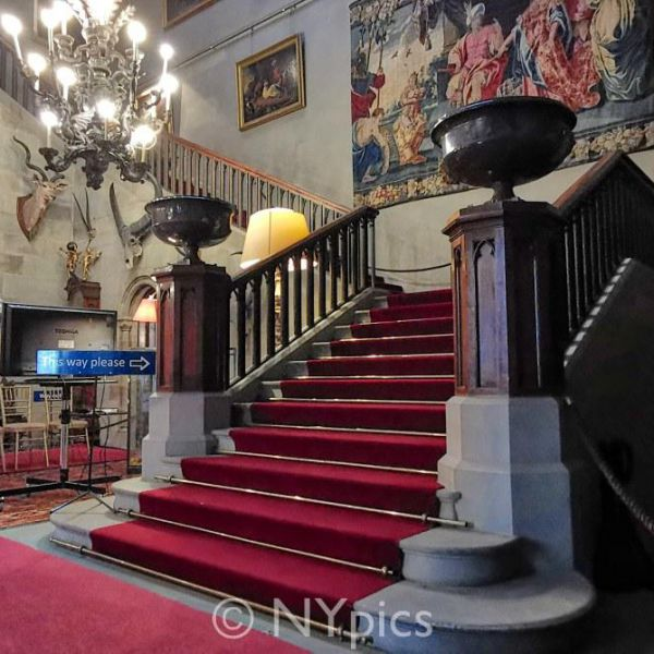 The Hall And Main Stairs, Eastnor Castle