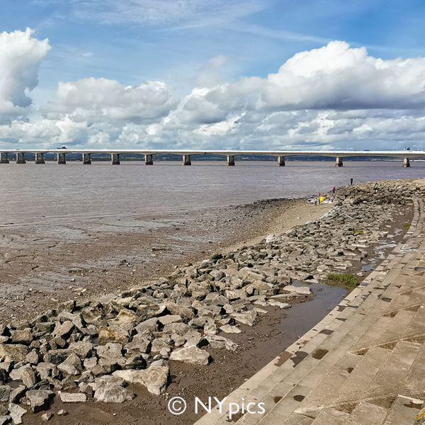 The Second Severn Crossing Viewed From Severn Beach.