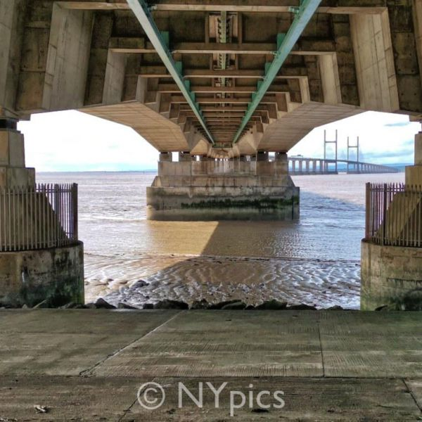 The Second Severn Crossing Viewed From The English End