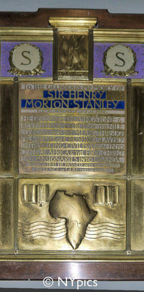 Sir Henry Morton Stanley Memorial Plaque, St Michael and All Angels Church, Pirbright, Surrey
