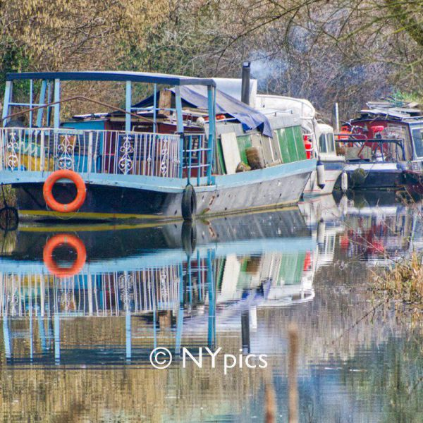 A Barge On The Kennet And Avon Canal