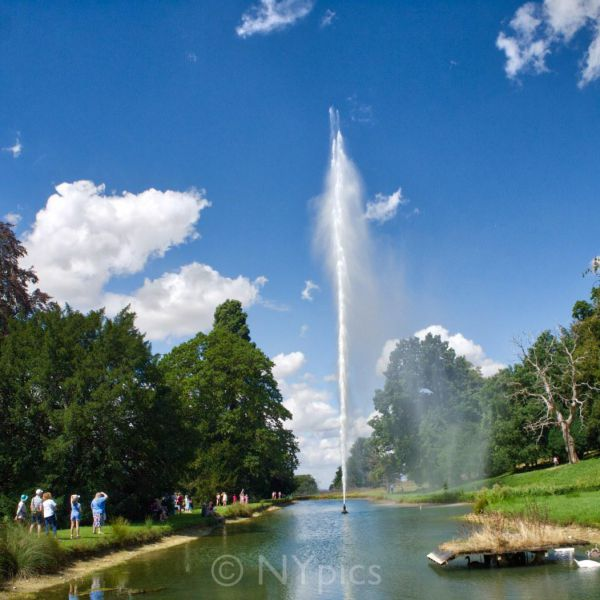 The Fountain In Stanway Watergarden  Rises To Over 300 Feet