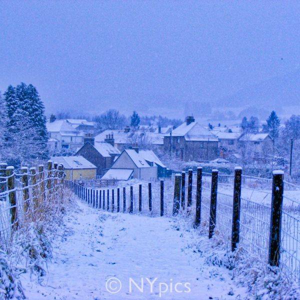 Snowy Path, Pitlochry, Scotland
