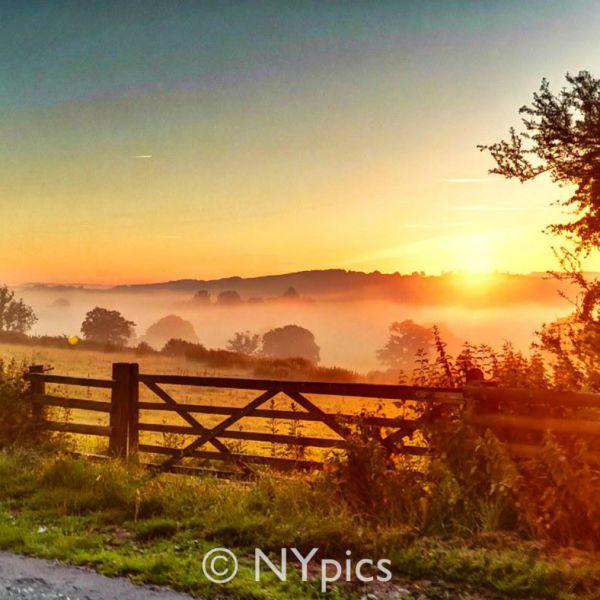 Midsummer Sunrise Over Llandenny, Monmouthshire
