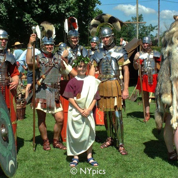 Roman Centurion And Two Optios
