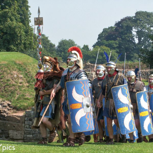 Roman Soldiers Following Their Standard Bearer (Signifer Carrying The Signum).
