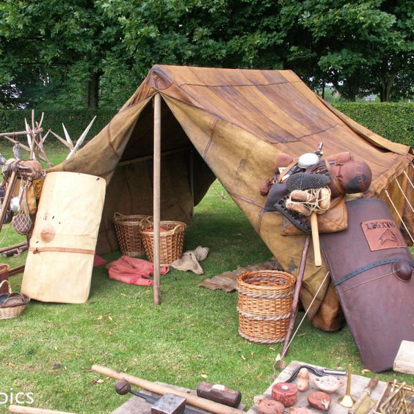 Reconstruction Of A Roman Tent