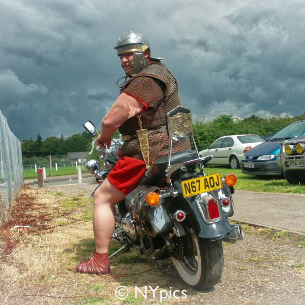 Roman Auxiliary Soldier On His Motorbike